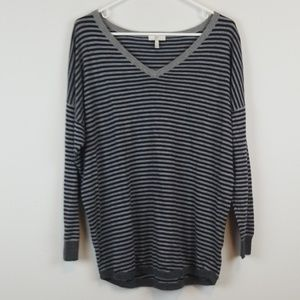 Joie striped v neck sweater size Medium